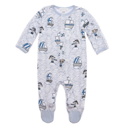 Angel Dear Viscose Bamboo Footie, Pirate Pup